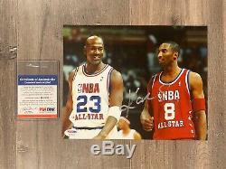 Kobe Bryant Signe Auto 8x10 Photo Psa Authenticated