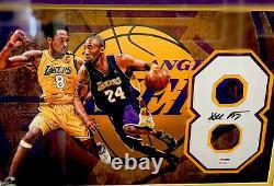 Kobe Bryant Signé Autographied Authentic Jersey #8 Photo Et 6 Bagues Ensemble Psa/adn