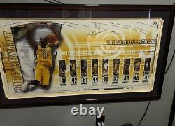 Kobe Bryant Signé Lakers Score Streak Affiche Pont Supérieur Authentifié 42 /108