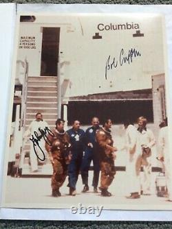 L'astronaute John Young Et Bob Crippen Signed Sts-post 1 Photo-psa Adn Authentifié