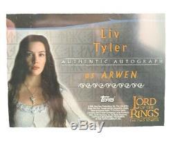 LIV Tyler Authentique Autographié Le Seigneur Des Anneaux De Collection Carte De Film Topps