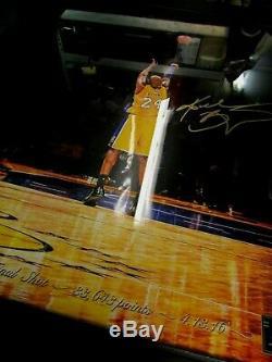 La Lakers Bryant La Finale Kobe Plan Signé Coa Panini Authentique 16x20 Lire