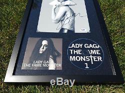 Lady Gaga A Signé Et Affichage Framed, Psa / Adn Authentifié