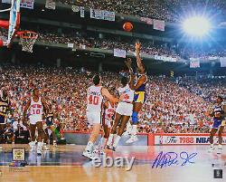 Lakers Magic Johnson Authentic Signé 16x20 1988 Finales Photo Bas Témoin