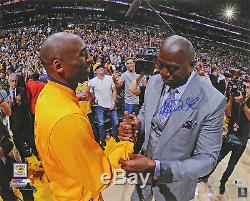 Lakers Magic Johnson Authentique Signé 16x20 Kobe Finale Photo Game Bas Témoin De