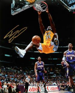 Lakers Shaquille O'neal Authentic Signed 16x20 Vs Suns Photo Autographiée Bas