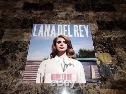 Lana Del Rey Rare Main Authentique Signé Vinyle Lp Record Born To Die + Photo Coa