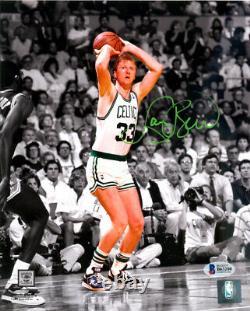 Larry Bird Authentique Autographié Signé 8x10 Boston Celtics Photo Beckett 119619
