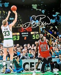 Larry Bird Signé Autographié 11x14 Photo Psa/adn Celtics De Boston Authentique 1