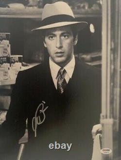 Le Parrain Al Pacino Signé 11x14 Photo Authentic Auto Psa Dna Itp Certifié
