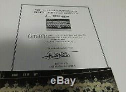 Légende Joe Dimaggio Yankee Clipper Authentique Signé 1939 Photo D'équipe W Coa