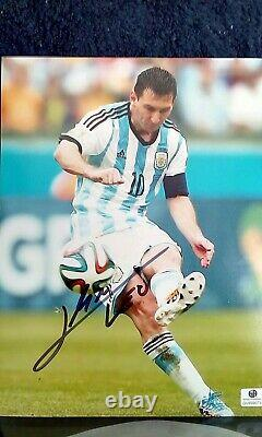 Leo Lionel Messi Fc Barcelone Argentine Photo Autographié Coa