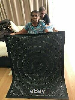 Lily Kelly Napangardi, Authentique Art Collectable Autochtone, Incl Coa, Des Photos