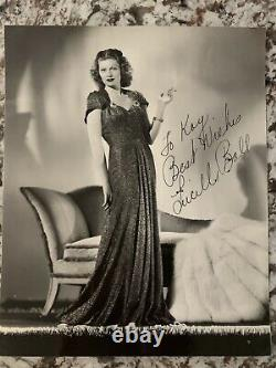 Lucille Ball Inscrit Et Signé Argent Gélatine Glossy Photo I Love Lucy Coa Rko