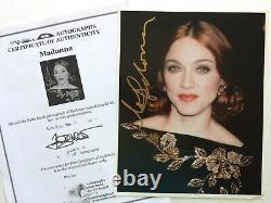Madonna Authentic Hand Signé Autographed Photo Comprend Tm Authentic / Coa