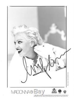 Madonna Signé Authentique Autographié 8x10 B / W Photo Psa / Dna # Aa01805