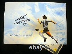 Main Signée Diego Maradona 12x19 Photo Autographe Authentique Avec Preuve