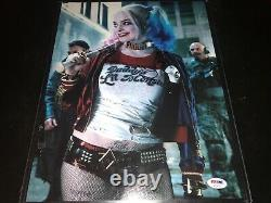 Margot Robbie Harley Quinn Signé 11x14 Photo Psa Dna Coa Sexy Autograph
