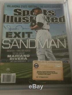 Mariano Rivera A Dédicacé Sports Illustrated, Pas D'étiquette (steiner Authentifié)