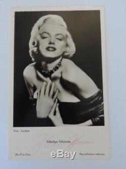 Marilyn Monroe Scarce Main Authentique Signé Autograph Vintage Carte Photo