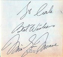 Marilyn Monroe Scarce Main Authentique Vintage Original Signe 1959s Autograph