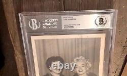Marilyn Monroe Signé Photo Beckett Authentic Bas