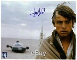 Mark Hamill Star Wars Un Nouvel Espoir Authentique Signé 11x14 Photo Bas # A15127