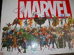 Marvel Cast Authentique Signé Encadré 20x28 Affiche Avec Exact Preuve Sur Place