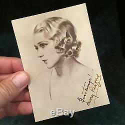 Mary Pickford Vintage Photo Autographiée Withlifetime Authenticité Garantie