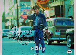 Michael J. Fox Signé 11x14 Photo Retour Vers Le Futur Psa / Adn Certifié Authentique