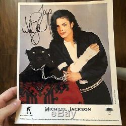Michael Jackson Authentique Original Autograph Signée À La Main Signature Photo