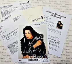 Michael Jackson Photo Dédicacée Autograph Psa / Adn Coa Authenticité Sourire Certificat