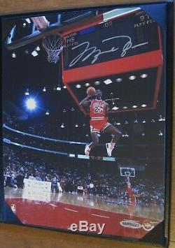 Michael Jordan 8x10 Signé Autographié 88 Tableau De Bord-dunk Upd Assermentée