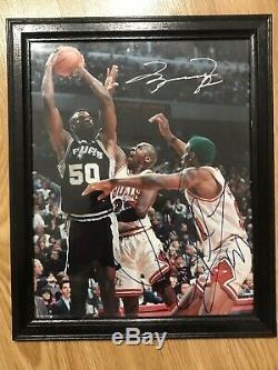 Michael Jordan / Dennis Rodman Autographié Signé Photo 8x10 Signatures Authentiques
