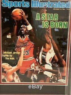Michael Jordan Signé Autographié Encadrée Photo 8x10 Upper Deck Assermentée