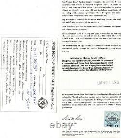 Michael Jordan Uda Upper Deck Authentifié Signé 8x10 Autograph Photo Auto