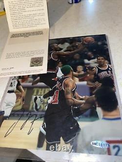 Michael Jordan Upper Deck Assermentée Autographié 8x10 Photo Certified