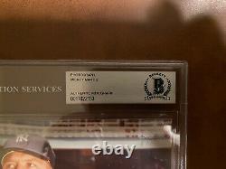 Mickey Mantle Hof Yankees Signé 8x10 Photo Beckett Bas Authentic Encased Auto