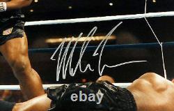 Mike Tyson Authentic Autographied Signé Encadré 16x20 Photo Beckett Bas 191221