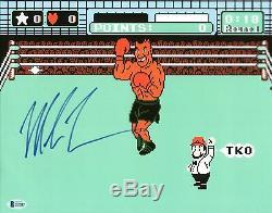 Mike Tyson Authentique Signé 11x14 Punch Out Photo Dédicacée Bas Témoin De