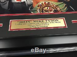 Mike Tyson Authentique Signée Autographié 16x20 Champion Photo Encadrée Jsa Coa
