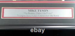 Mike Tyson Autographié Authentique Signé Avec Cadre Photo 16x20 Psa / Adn 177393