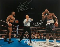 Mike Tyson Et Evander Holyfield Signed Autographed 16x20 Photo Jsa Authentique 1