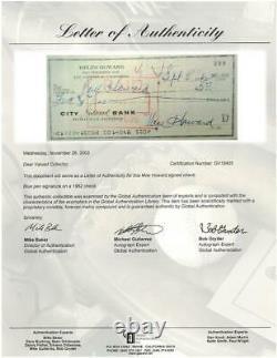 Moe Howard Signé Autographié Authentique Vérifiez Son Fils Withphoto Psa / Dna # B50330