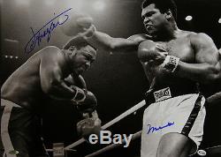 Muhammad Ali Et Joe Frazier Double Signed 20x16 Photo, Authentics En Ligne 2