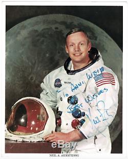 Neil Armstrong A Dédicacé 8x10 Photo Signé! Nasa! Rare! Amco Assermentée