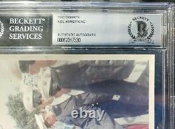 Neil Armstrong Apollo 11 Signé Photo Autograph Beckett Bas Authentique