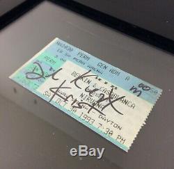 Nirvana Authentiques 1993 Ticket Signé Autographié Kurt Cobain Foo Fighters