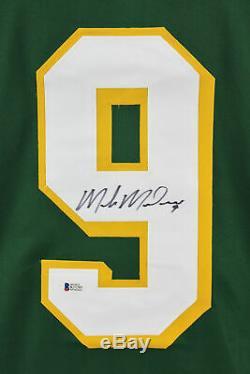 North Stars Mike Modano Jersey Authentique Vert Signé Autographié Bas Témoin De