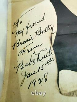 Original - Authentique 1928 Babe Ruth Vintage Signé-hardiment Autographié 8x10 Photo